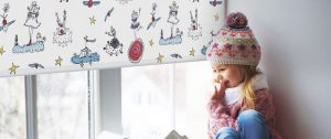 Экстерьерные рулонные шторы в детскую