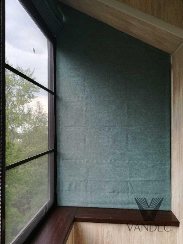 Римская штора на сложные окна - район Хорошёво-Мневники