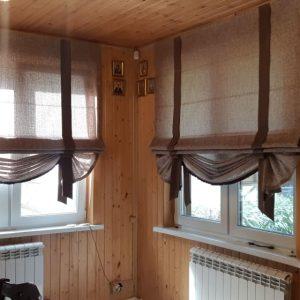Римская штора с декоративным низом